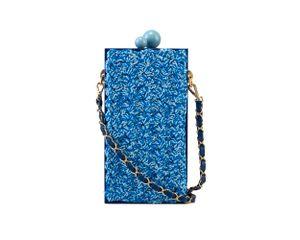 4667---B200102007---Clutch-Retangular-Acrilico-Azul-com-Croche